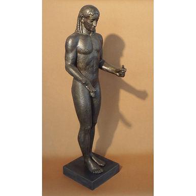 bronze-effect statue of the Piraeus Apollo