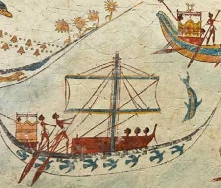 Minoan Flotilla Frieze fresco tile (large)