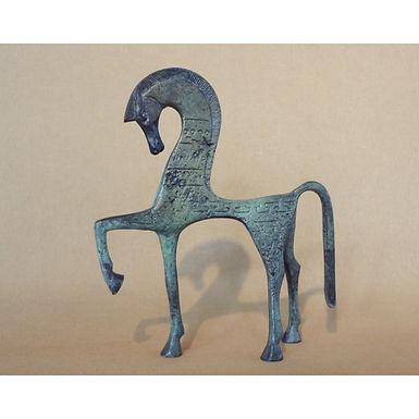 small bronze shy horse