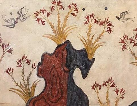 Minoan Spring Fresco tile (large)