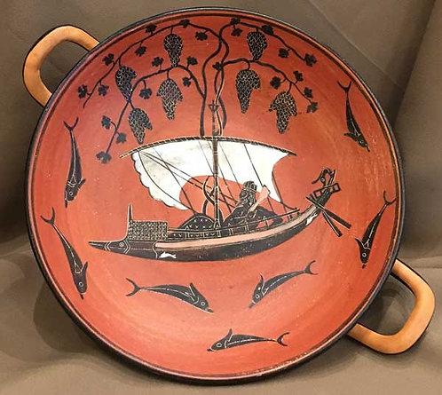 black-figure kylix - Dionysos at sea (large)
