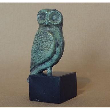 mini bronze pensive owl