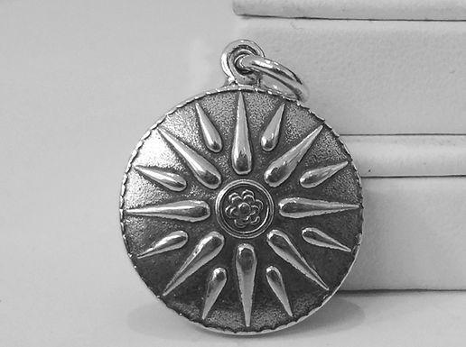 Macedonian sunburst pendant (small)