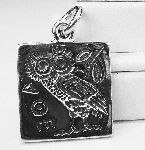 owl of Athena intaglio pendant