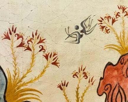 Minoan Spring Fresco tile (medium)