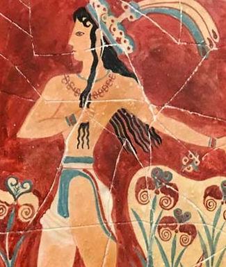 Minoan Prince with Lilies fresco tile (small)