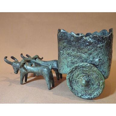 bronze oxen and cart