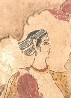 Minoan Lady from Thera fresco tile