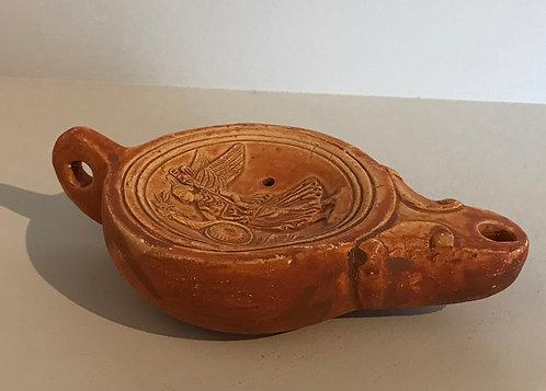 terracotta oil-lamp with Fortuna and cornucopia