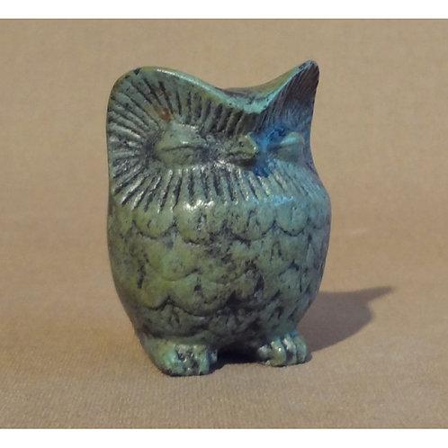small bronze chunky owl