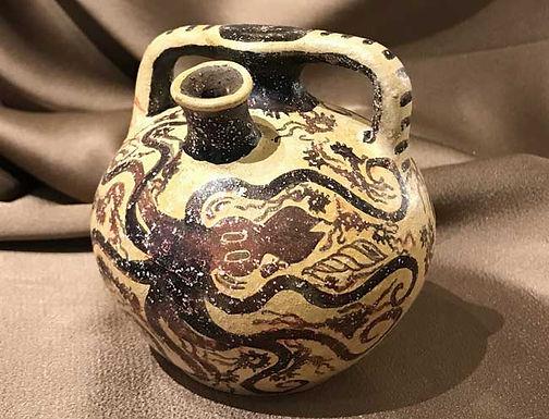 Minoan octopus stirrup jar (large)