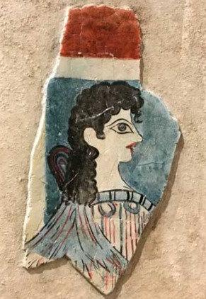 Minoan fresco tile of La Parisienne
