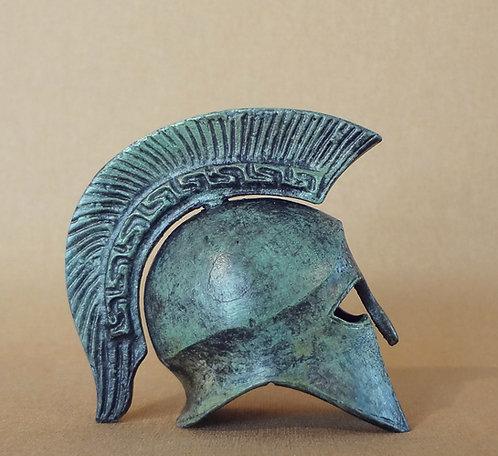 mini bronze crested helmet