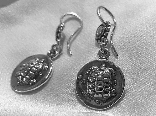 turtle coin earrings