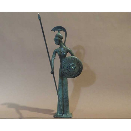 bronze Athena with shield and spear