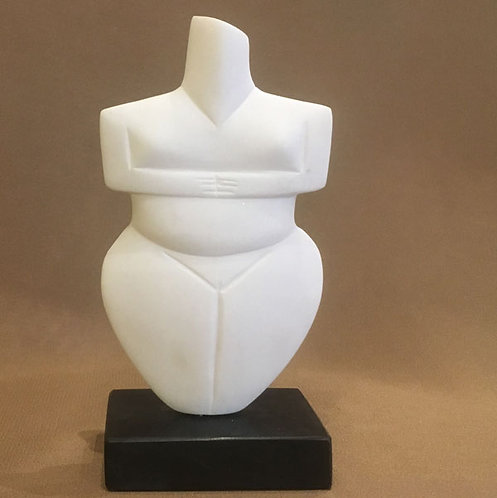 marble Cycladic violos fragment