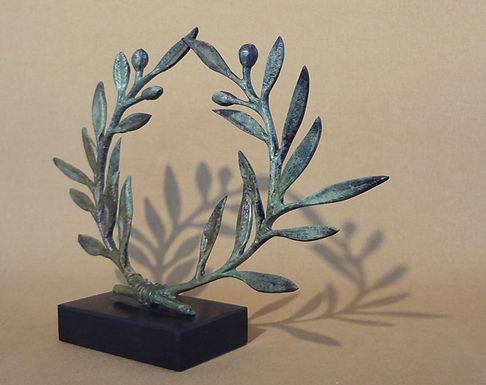 bronze olive wreath - medium