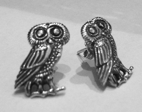 owl of Athena earstuds