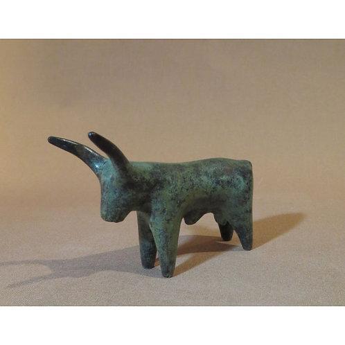 bronze long-horned bull