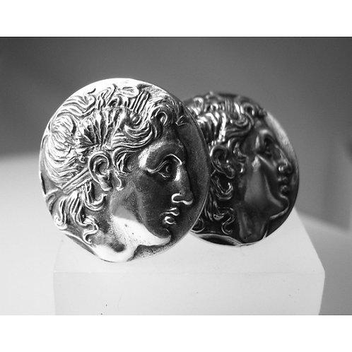 Alexander the Great coin cufflinks