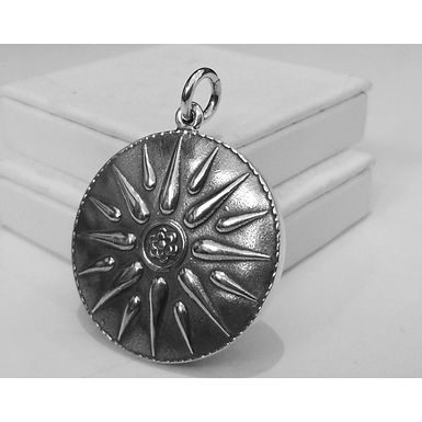 Macedonian sunburst pendant (large)