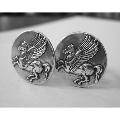Pegasus coin cufflinks