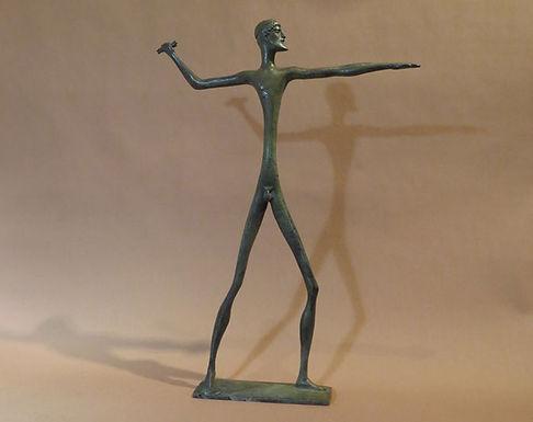 bronze statue of Zeus, protector of the family