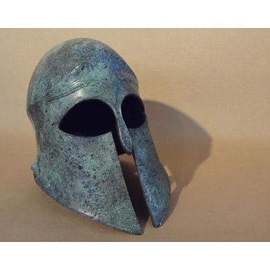 medium bronze freestanding helmet