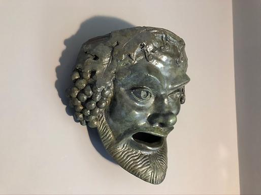 bronze mask of Dionysos Bacchus