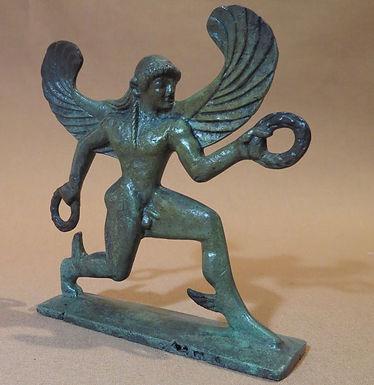 bronze statue: winged Boreas