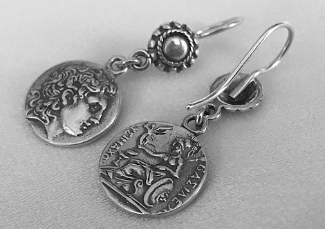 Alexander the Great, Athena with Nike coin earrings