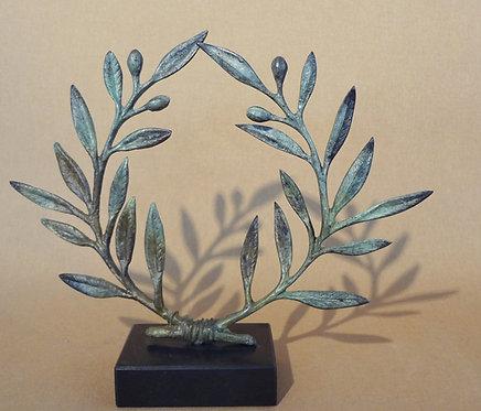 bronze olive wreath - large