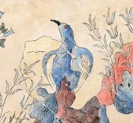Minoan Blue Bird fresco tile (large)