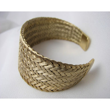 antique gold effect bracelet