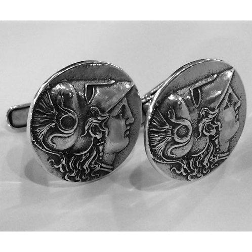Athena coin cufflinks