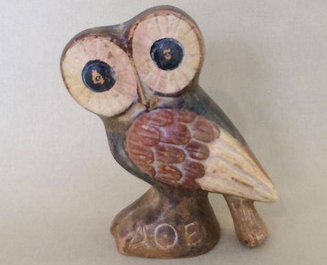 quizzical terracotta owl!