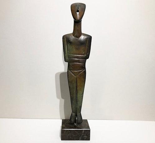 bronze Cycladic figurine