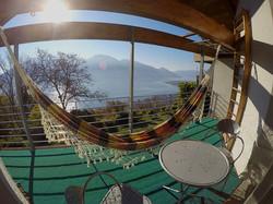 Balkon mit Hängematte zum Entspannen