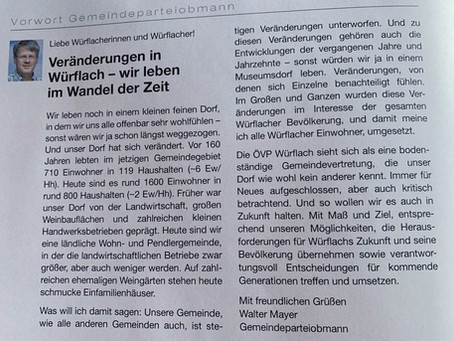 Offener Brief an die ÖVP Würflach