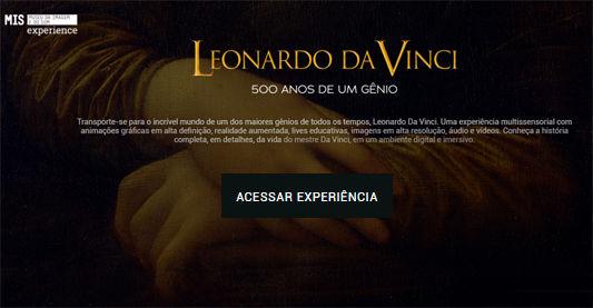 """Visita virtual à """"Leonardo da Vinci – 50"""