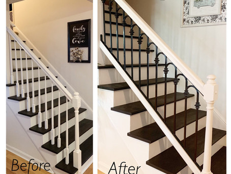 How to modernize your old stair rail with this custom cold-bent ornamental stair rail panel.