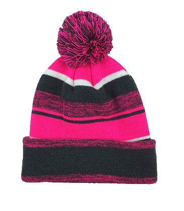 Melange:Charcoal/ Neon Pink/ White