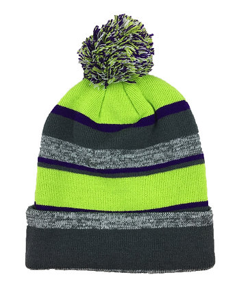 Melange: Charcoal/ Neon Green/ Purple