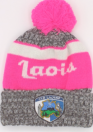 Laois Pink Bobble Hat