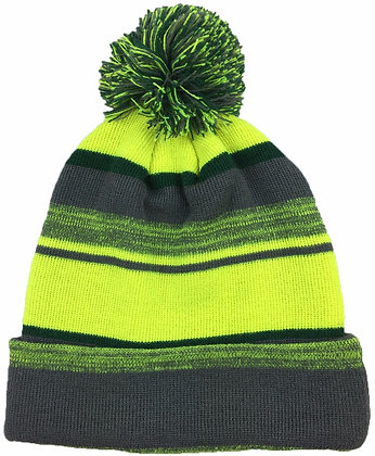 Melange: Charcoal/ Neon Yellow/ Forest Green