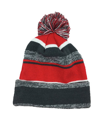 Melange: Charcoal/ Red/ White