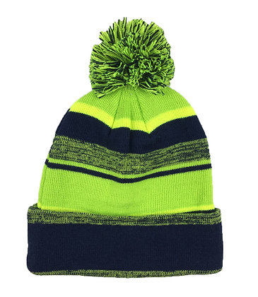 Melange: Navy / Neon Green/ Yellow