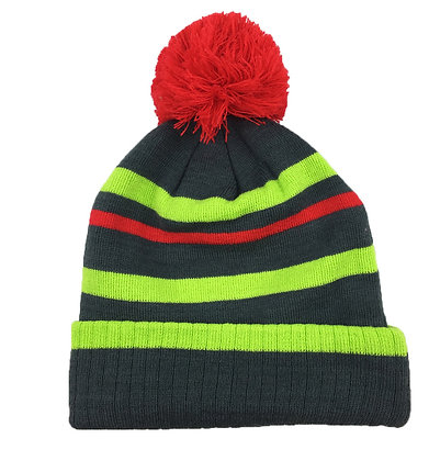 Charcoal/ Neon Green/ Red
