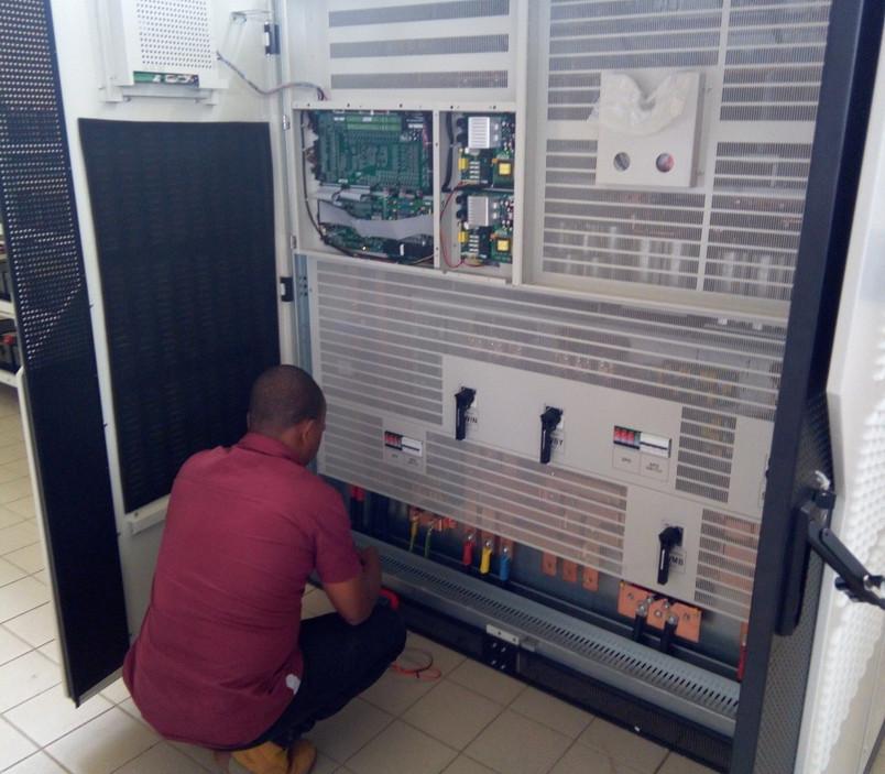 Installation of 400KVA UPS at one of Ghana's Educational Printing Press site