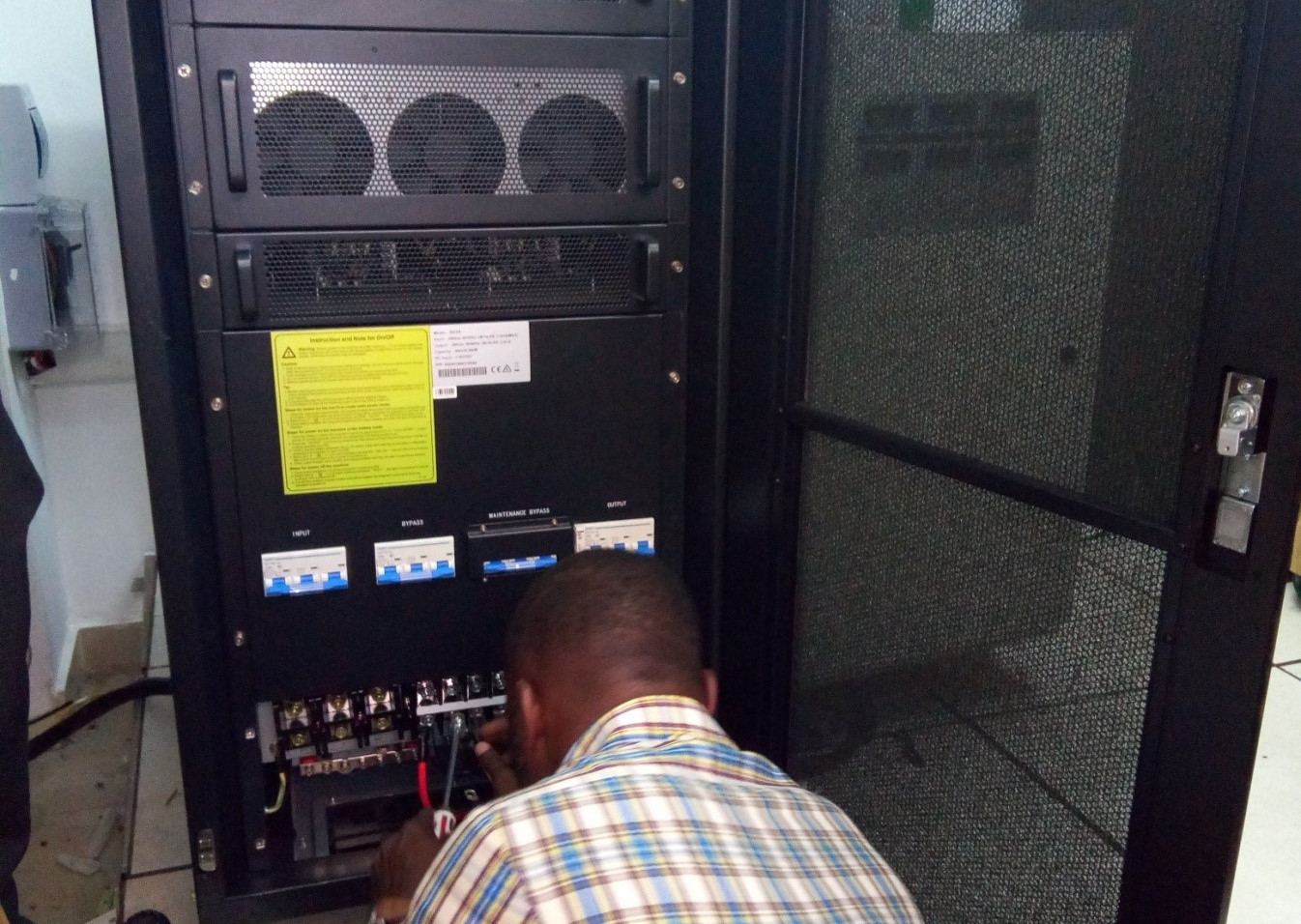 Installation of 40KVA UPS at one of Ghana's biggest Broadcasting Media Houses